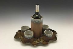 Wine Caraf with Tray and Tumblers